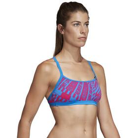adidas Pro AOP - Bañadores Mujer - rosa/azul